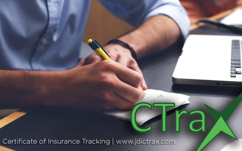 JDI CTrax Certificate of Insurance Benefit for Companies