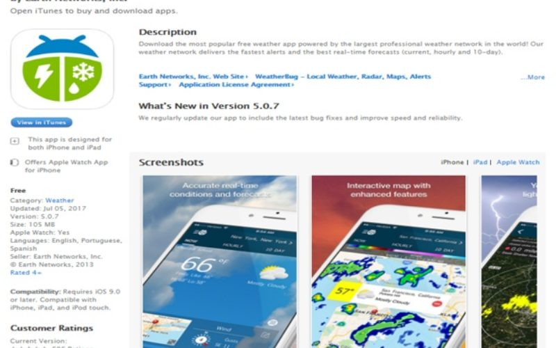 WeatherBug App: Instant Access To Features Of Weather & Travel App For Free!